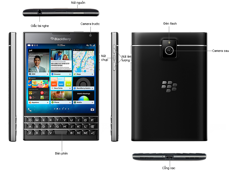Black Berry Passport - Đen