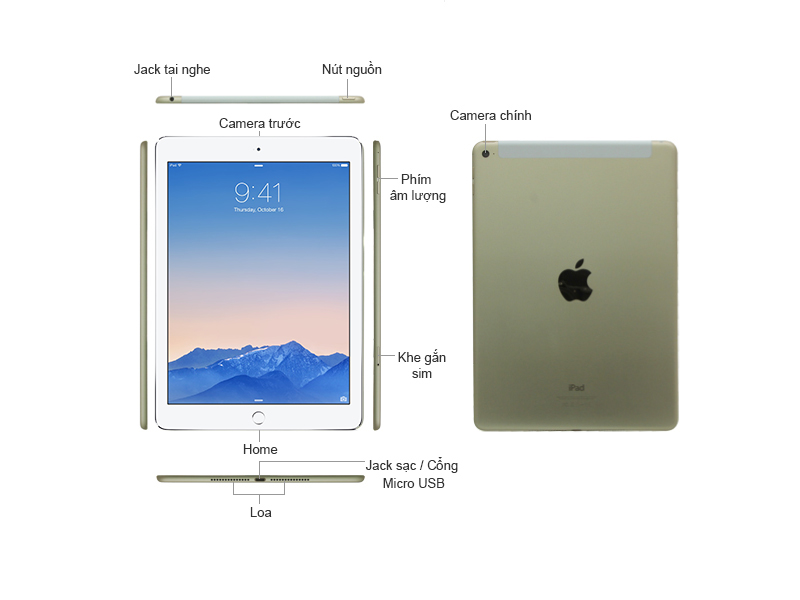 iPad Air 2 Wi-Fi 4G 16GB - Silver