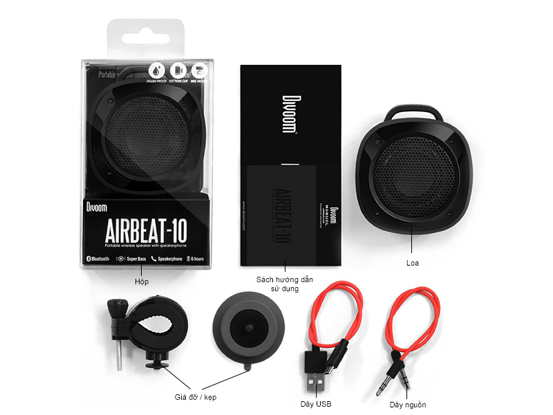Loa Bluetooth Divoom Voombox Airbeat 10 -xanh